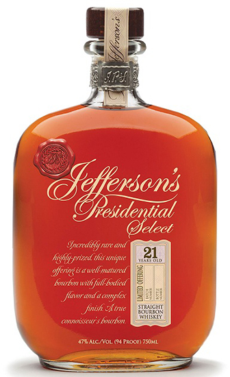 Jefferson's Presidential Select 21yr Bourbon