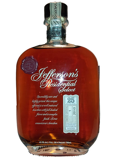 Jefferson's Presidential Select 25yr Bourbon
