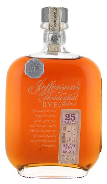 Jefferson's Presidential Select 25yr Rye